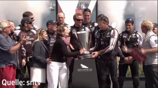 Video «Team Neuseeland gewinnt Louis-Vuitton-Cup (unkommentiert)» abspielen