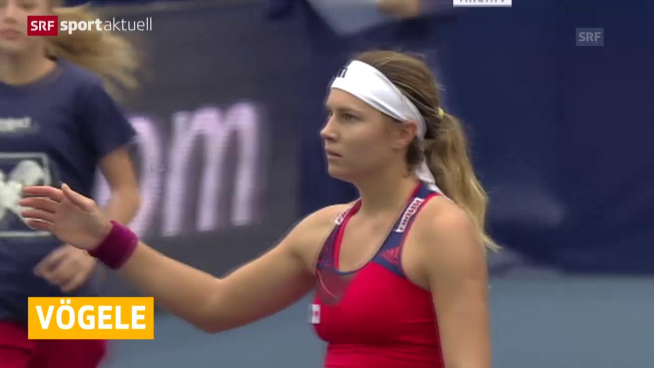 Tennis: WTA Luxemburg, Vögele - Radwanska