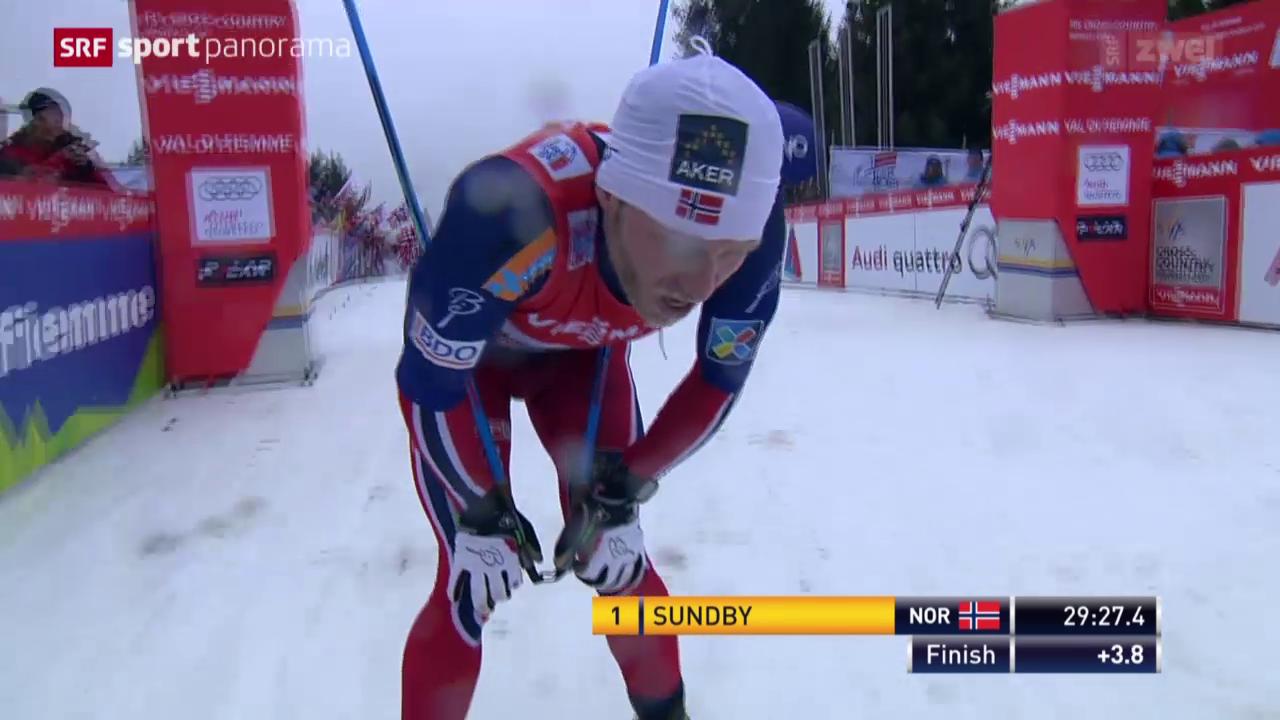 Langlauf: 9. Tour de Ski, Männer, Schlussetappe auf die Alpe Cermis