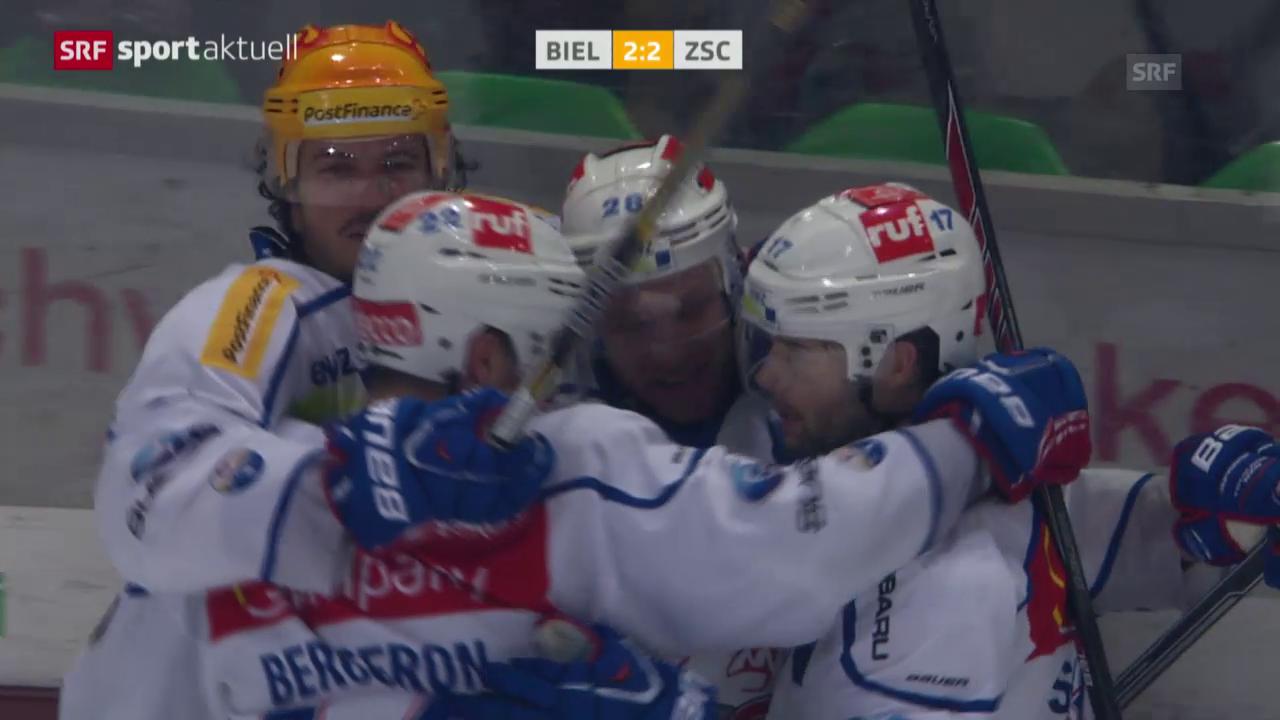 Eishockey: NLA, Biel - ZSC Lions, Tor Ryan Keller