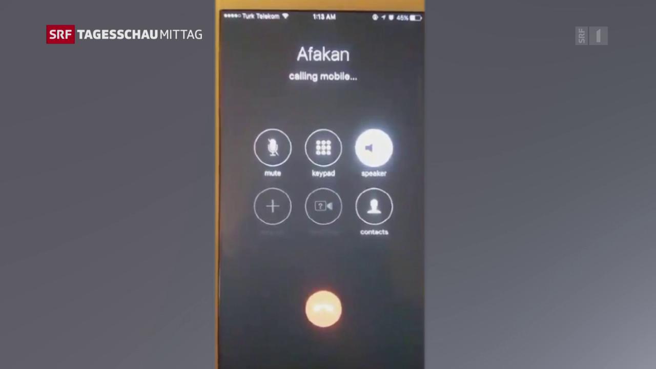 Erdogan schaltet sich in Handys ein
