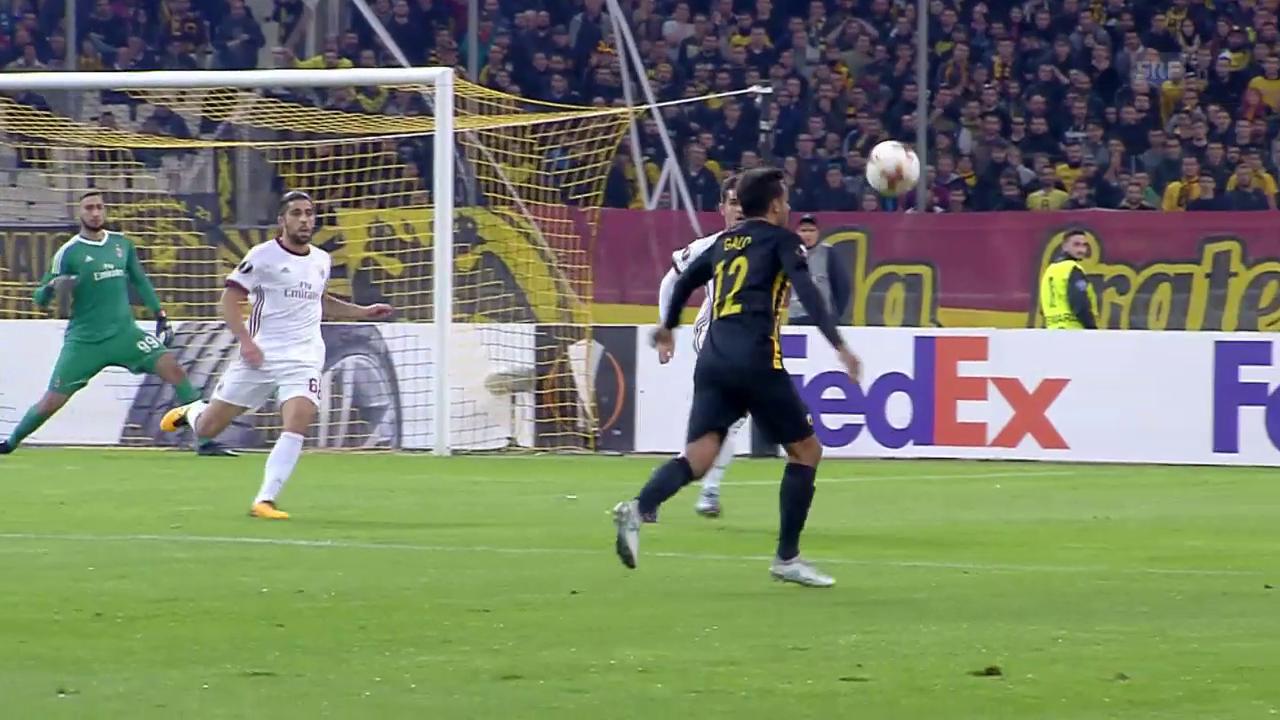 Milan kommt bei AEK Athen nicht über ein torloses Remis hinaus