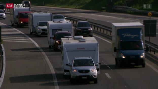 Video «Fahrende demonstrieren in Bern» abspielen