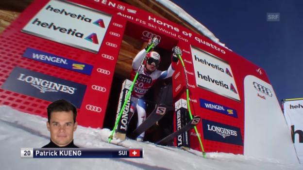 Video «Ski Alpin: Abfahrt Wengen, Fahrt von Küng» abspielen