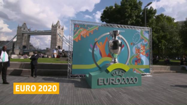 Video «Die Uefa enthüllt das Logo für die EM 2020» abspielen