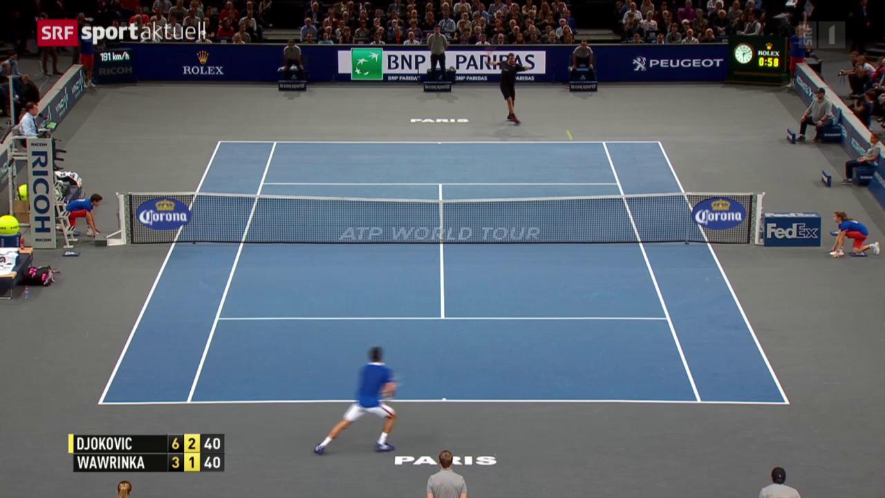Tennis: ATP Paris-Bercy, Halbfinal Wawrinka - Djokovic