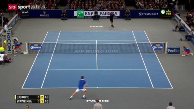 Video «Tennis: ATP Paris-Bercy, Halbfinal Wawrinka - Djokovic» abspielen