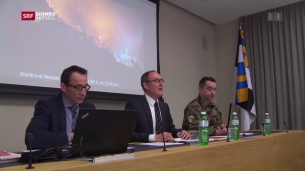 Video «Positive Bilanz nach Waldbränden in Graubünden und im Tessin» abspielen