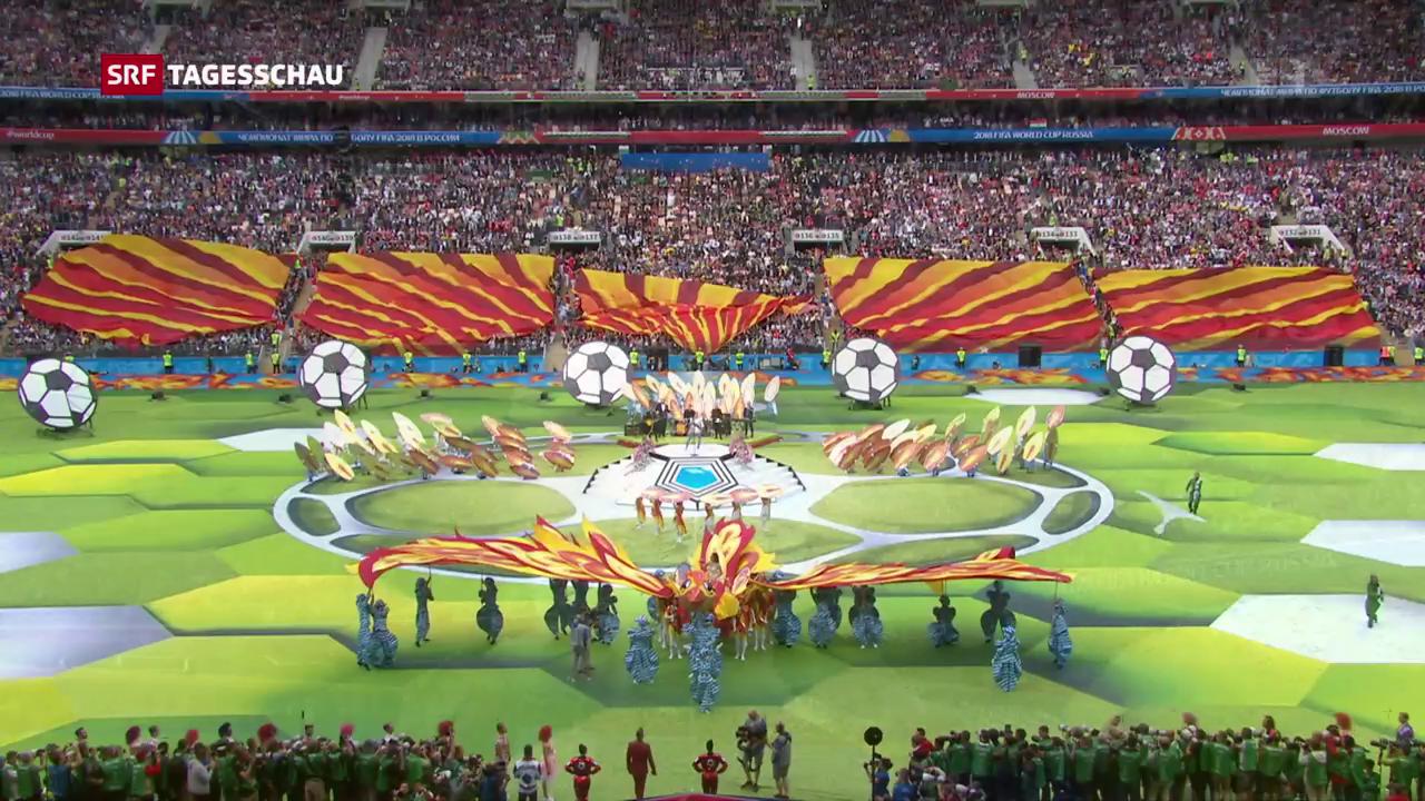 Fussball-WM eröffnet