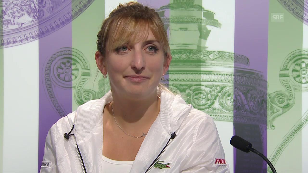 Tennis: Wimbledon, Interview Bacsinszky