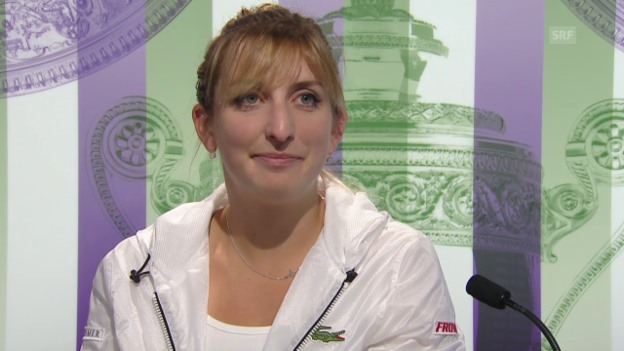 Video «Tennis: Wimbledon, Interview Bacsinszky» abspielen