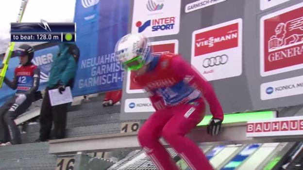 Video «Skispringen: Garmisch, Quali-Sprung Jacobsen» abspielen