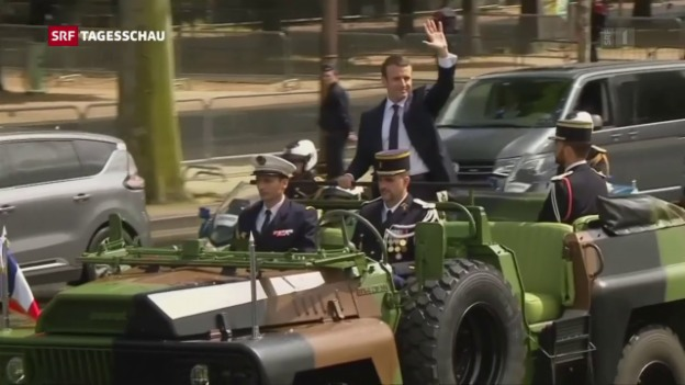 Video «Macron übernimmt Präsidentenamt» abspielen