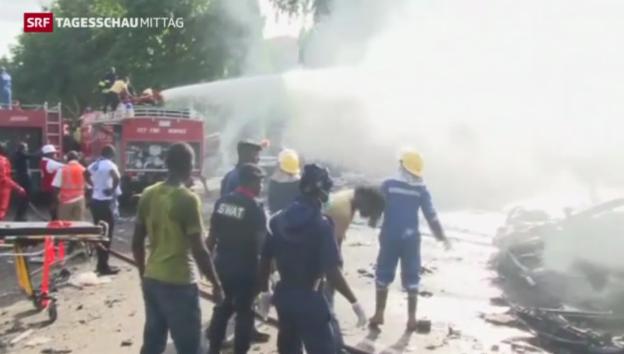Video «Tote bei Anschlag in Abujas Einkaufsviertel» abspielen