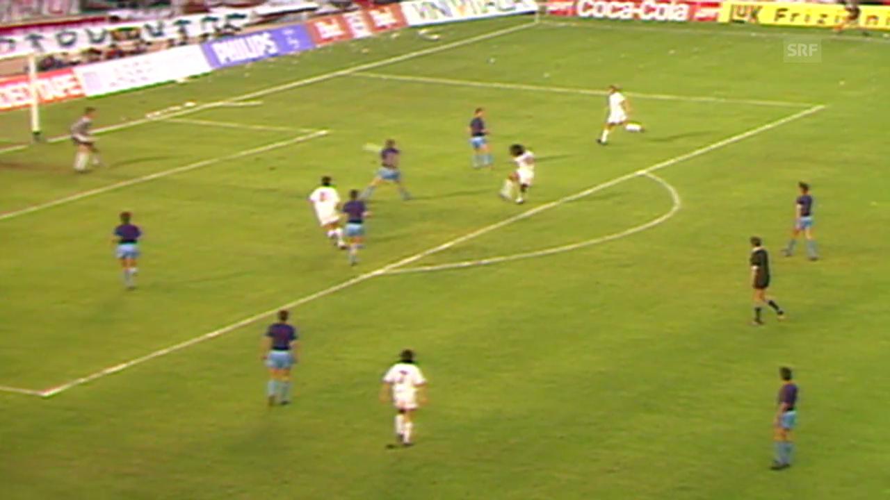 Steaua im Final gegen die AC Milan 1989