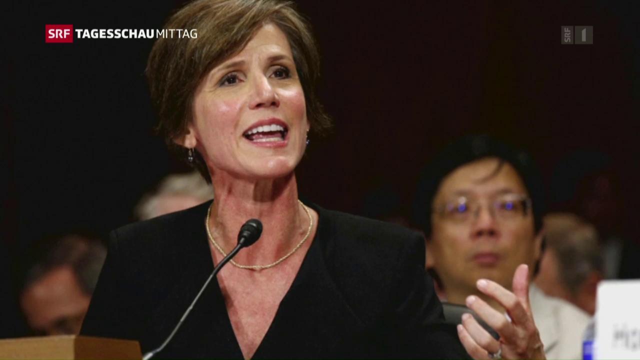 Trump entlässt amtierende Justizministerin