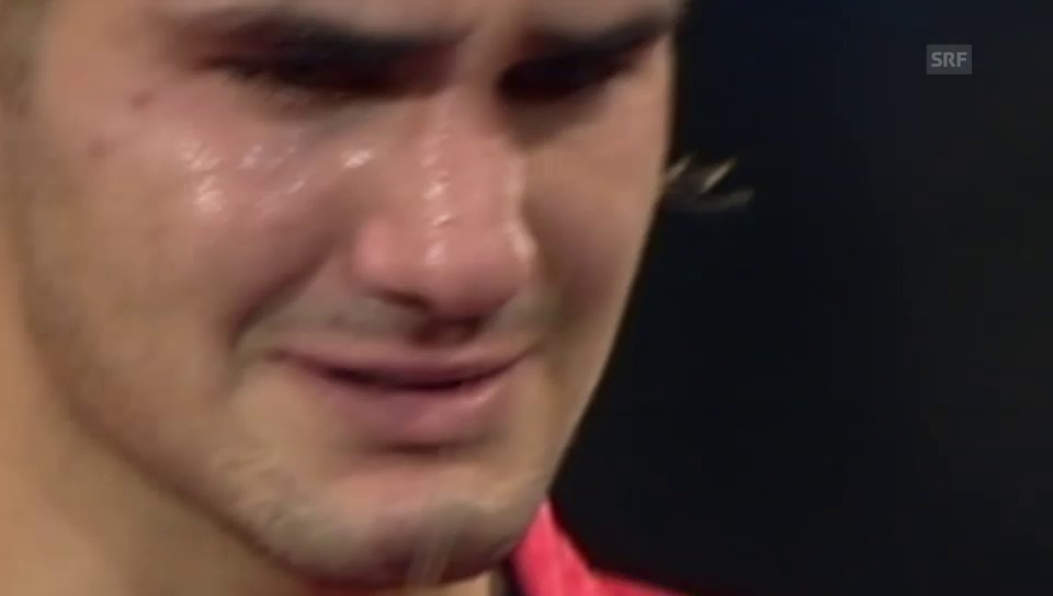 Federers Gefühlsausbrüche sind legendär