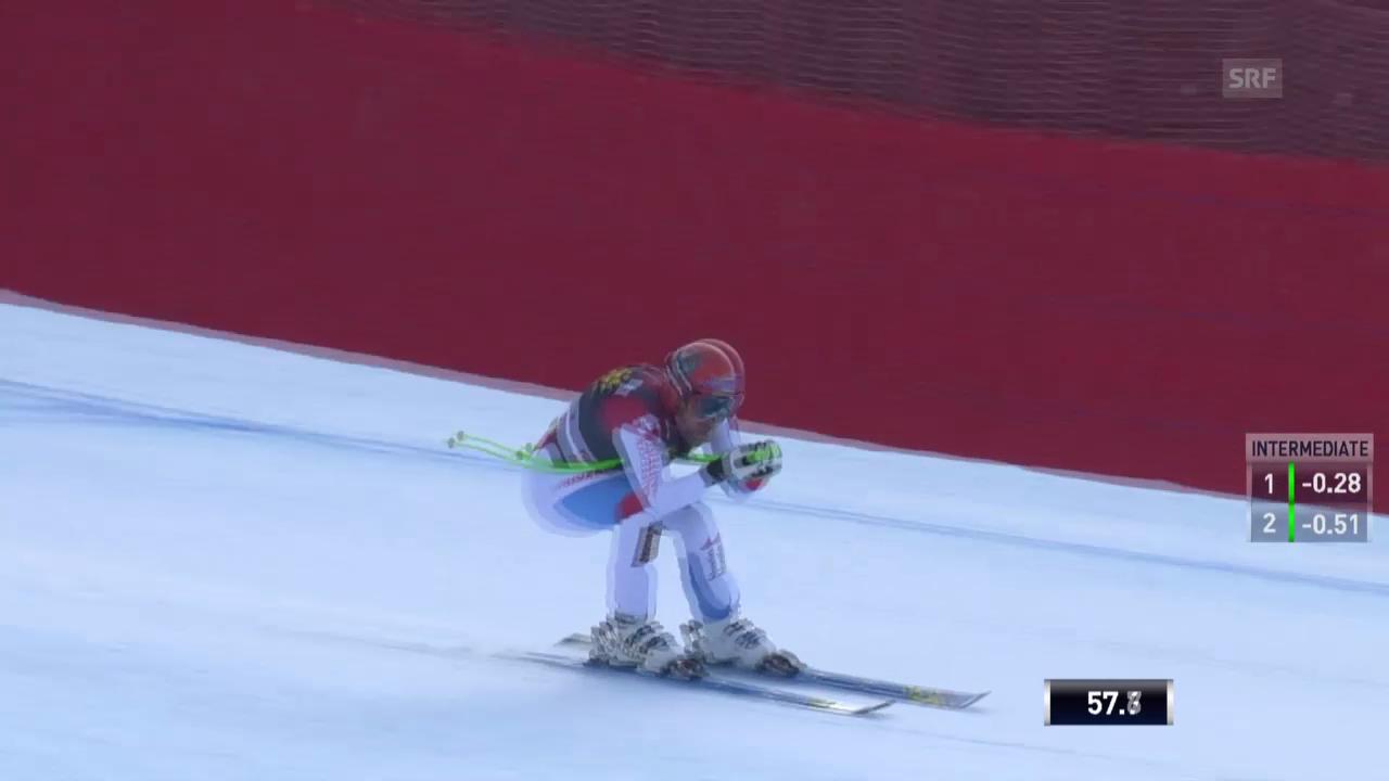 Ski Alpin: Abfahrt Männer in Gröden, Fahrt von Küng («sportlive», 21.12.2013)