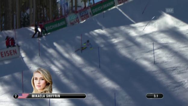 Video «Ski-WM, Vail/Beaver Creek, SL Frauen, 1. Lauf Shiffrin» abspielen