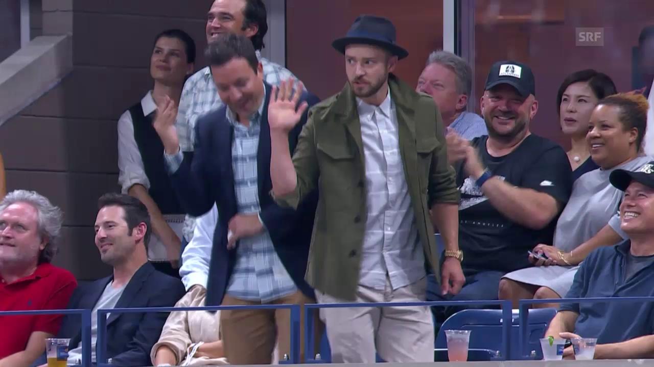 US Open: Timberlake und Fallon tanzen für Federer