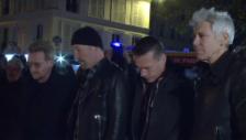 Video «U2 legen in Paris Blumen nieder (unkomm.)» abspielen