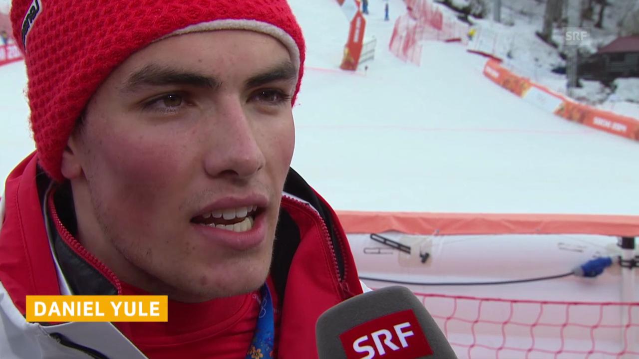 Ski Alpin: Slalom der Männer, Interview mit Daniel Yule (sotschi direkt, 22.2.2014)