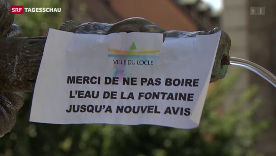 Trinkwasser in Le Locle verseucht