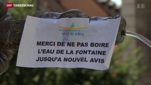 Video «Trinkwasser in Le Locle verseucht» abspielen