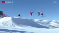 Video «Katrin Müller gewinnt Skicross-Weltcup in Val Thorens» abspielen