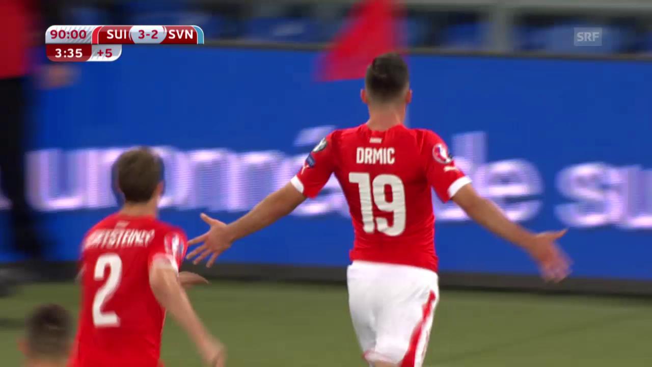 Fussball: EM-Qualifikation, Schweiz - Slowenien: Die Live-Highlights