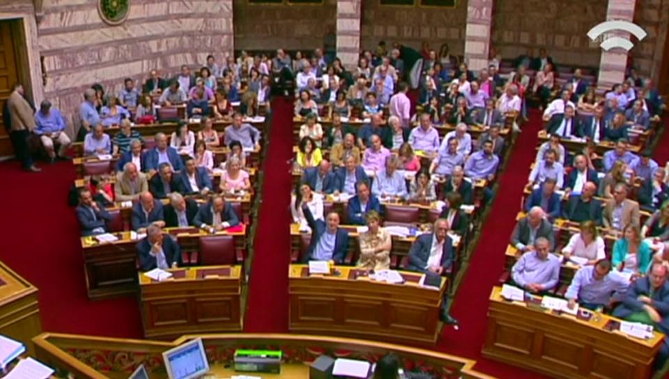 Parlamentarier geben ihre Stimme ab