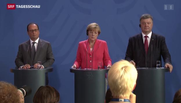 Video «Ukraine-Gipfel in Berlin» abspielen