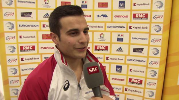 Video «Turnen: EM 2015, Quali, Interview Brägger» abspielen