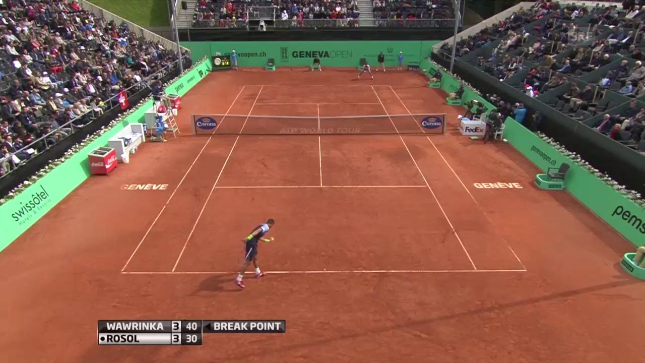 Tennis: ATP Genf, Break Wawrinka