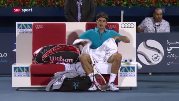 Video «Tennis: Federer - Berdych in Dubai («sportaktuell»)» abspielen