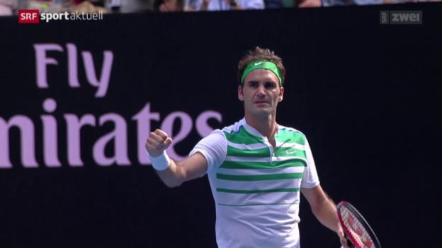 Video «Tennis: Roger Federer schlägt Tomas Berdych» abspielen
