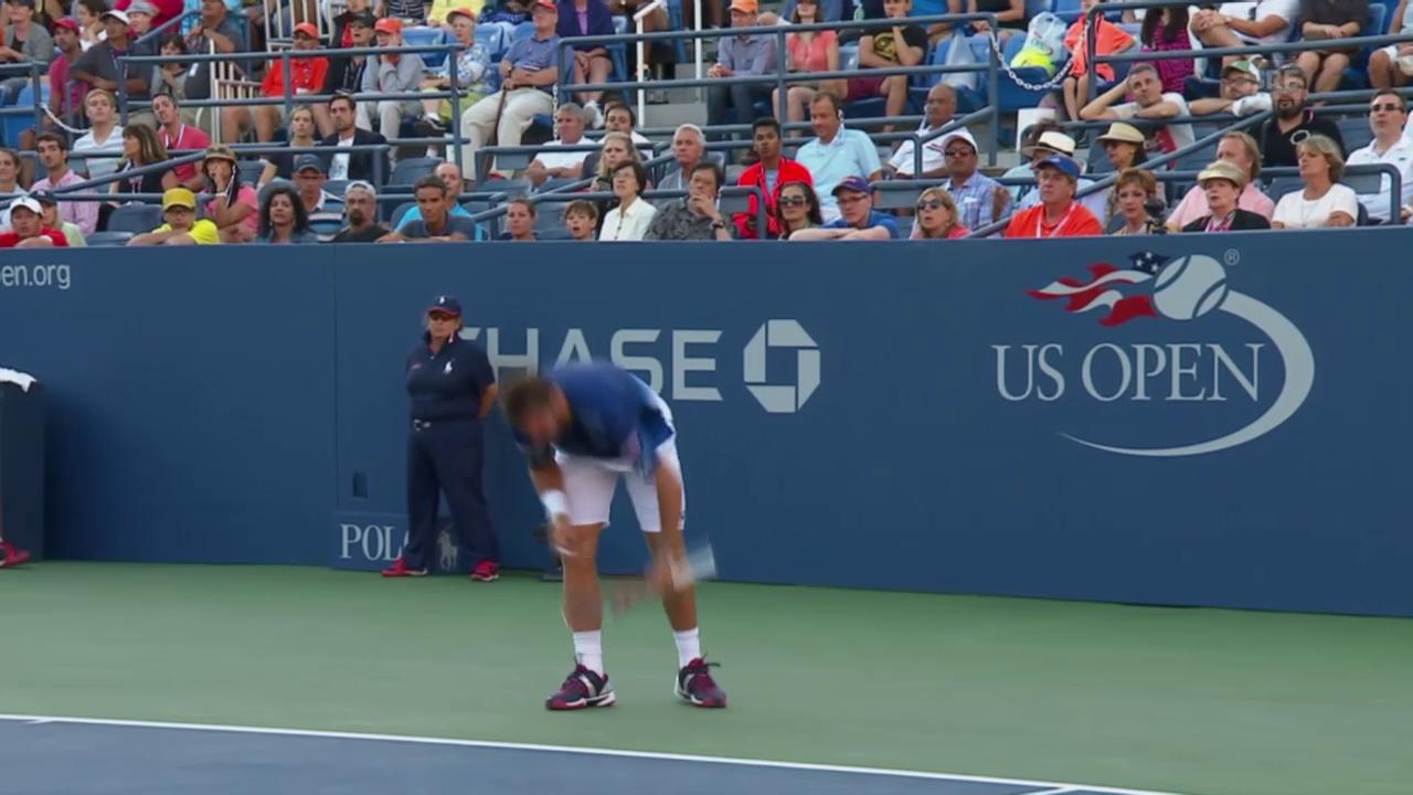 Tennis: US Open 2015, 3. Runde, Wawrinka - Bemelmans