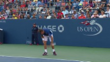 Video «Tennis: US Open 2015, 3. Runde, Wawrinka - Bemelmans» abspielen