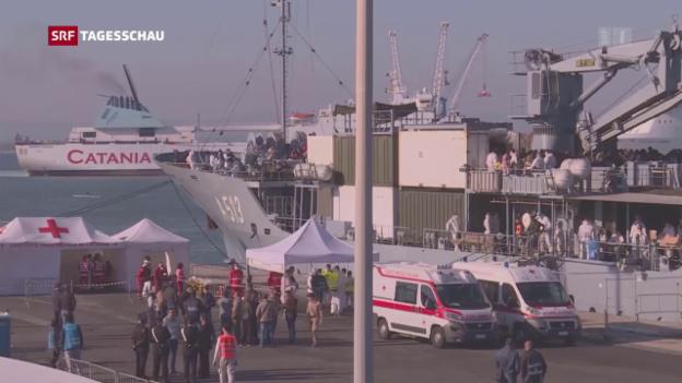 Video «Italien beschliesst Einsatz vor Libyen» abspielen