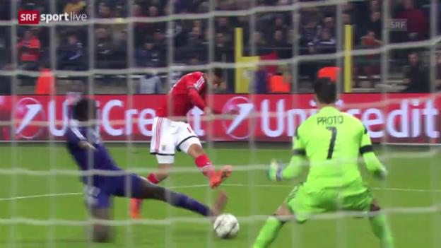 Video «Fussball: CL, Anderlecht - Benfica Lissabon» abspielen