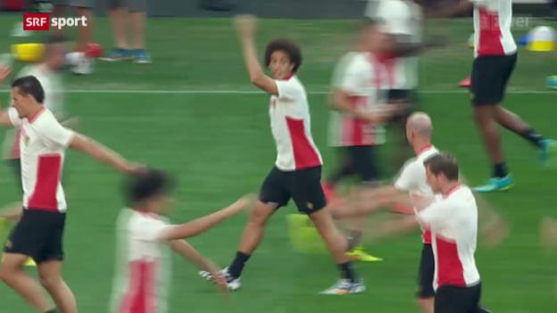Video «Belgien ohne Manndeckung gegen Argentinien» abspielen