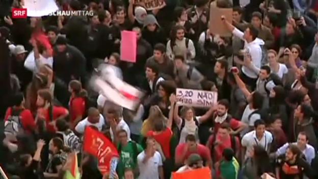 Video «Unruhen in Brasilien» abspielen