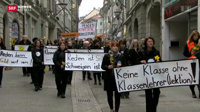 Freiburger Lehrer demonstrieren