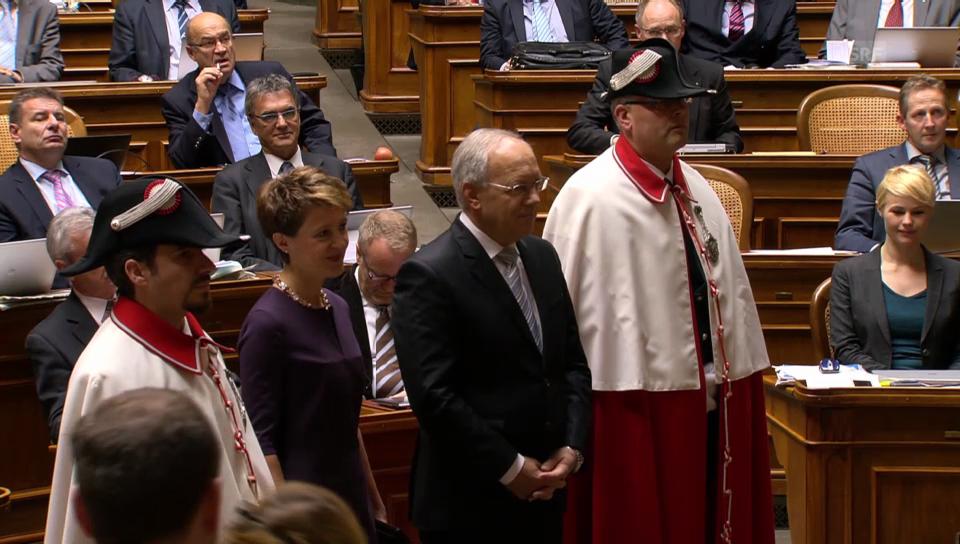 Applaus für die Bundespräsidentin 2015