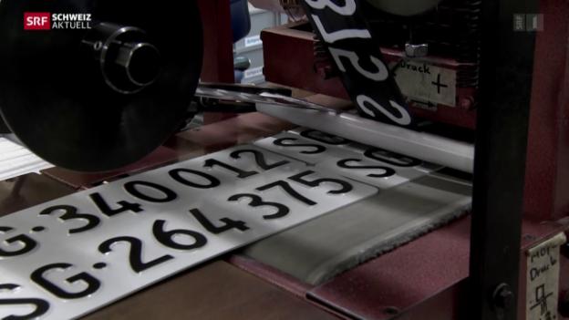 Video «Autonummernschilder - Jedes ein Einzelstück» abspielen