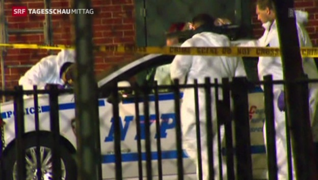 Video «Polizisten getötet in New York» abspielen