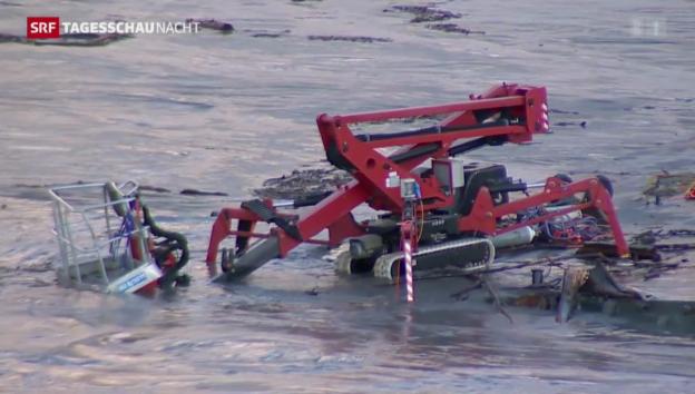 Video «Führerlose Plattform auf dem Rhein» abspielen