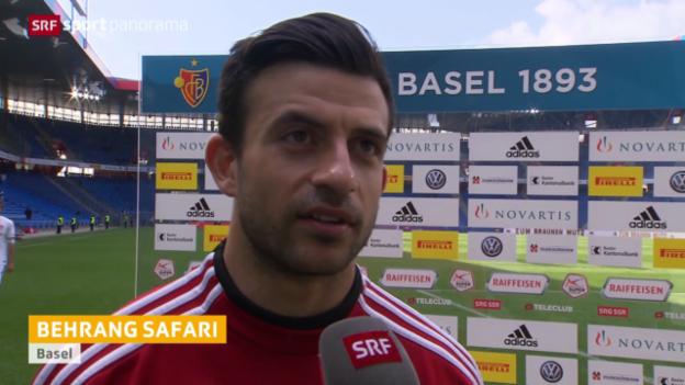 Video «Fussball: Stimmen zu Basel-Thun» abspielen