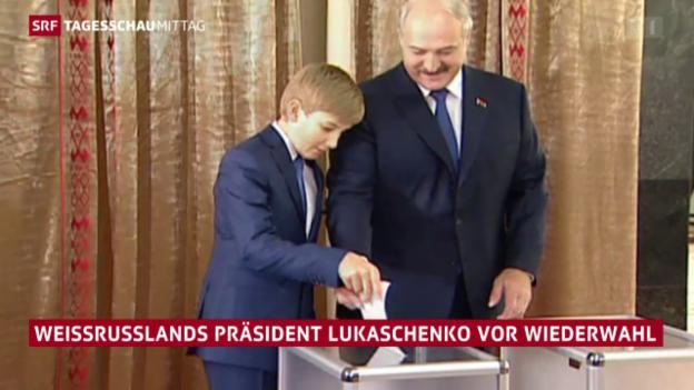 Video «Lukaschenko kurz vor der Wiederwahl» abspielen