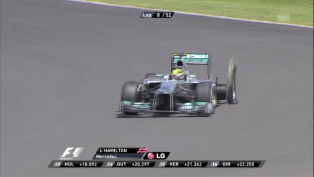 Video «Formel 1: Reifenpannen in Silverstone («sportlive»)» abspielen